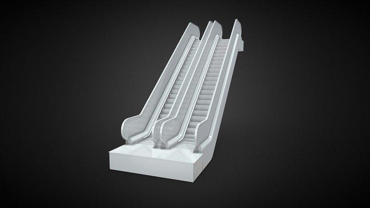 Double Escalator 3D Model