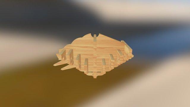 重翘重昂九踩平身科斗拱 3D Model