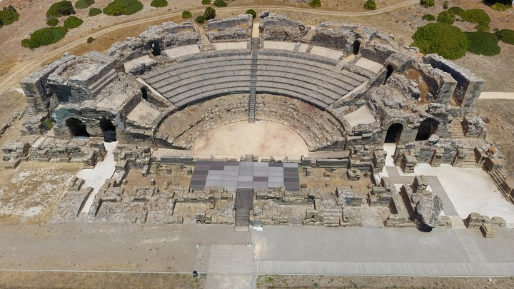 Baelo Claudia Roman amphitheatre, Cadiz, Spain 3D Model