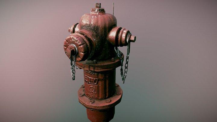 Photoscanned hydrant 3D Model