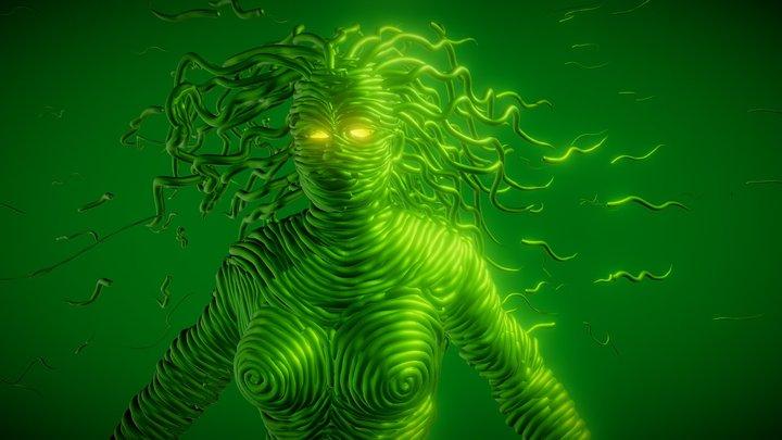 """Tilt Brush:""""Halloween Horror Maze"""" center figure 3D Model"""