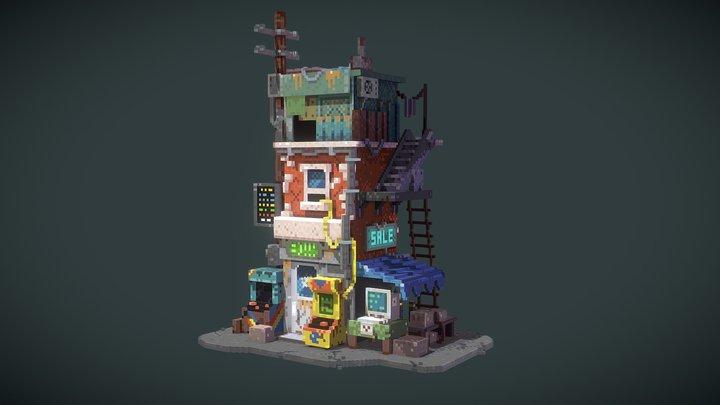 Retro Repair Shop (concept by Krzysztof Maziarz) 3D Model