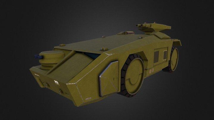Alien APC M577 Armored Personnel Carrier 3D Model