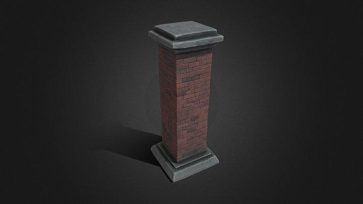 Brick column 3D Model