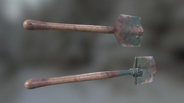 WW II Shovel 3D Model