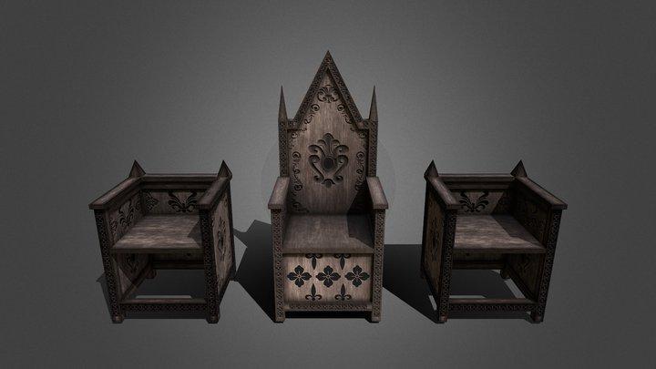 Exterior Thrones 3D Model
