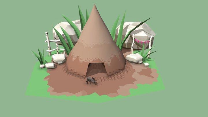 Ant Hill 3D Model