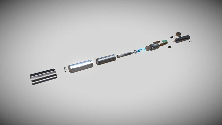 Anakin Skywalker's Lightsaber - Detailed 3D Model