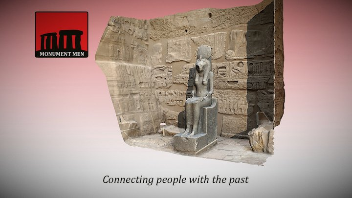 Statue of Sekhmet (Medinet Habu Temple, Luxor) 3D Model