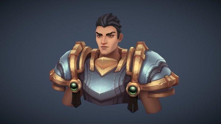Knight Bust 3D Model