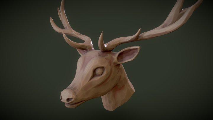 3December2018 Day6 - Reindeer Wood Bust 3D Model