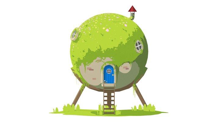 Smol Sphere House 3D Model