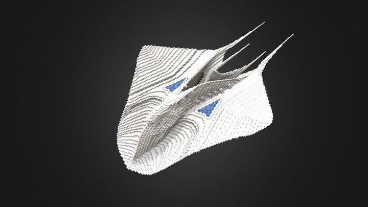 Manta Ray City 3D Model