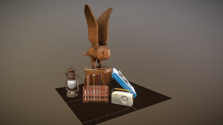 Marcello Acevedo: 5 Props Forest Loner 3D Model