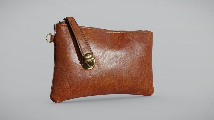 Women Leather Wallet 3D Model