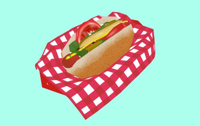 Chicago Hotdog 3D Model
