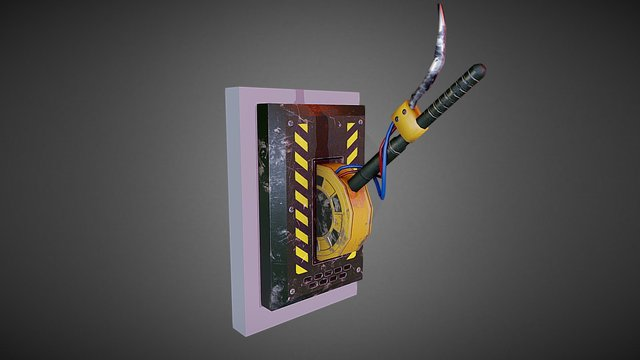 Hydraulic Lever 3D Model