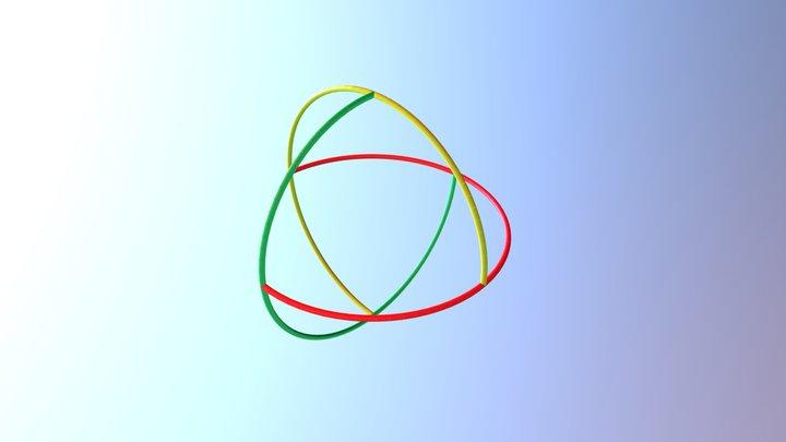 Trigonal Hosohedron Rotegrity 3D Model