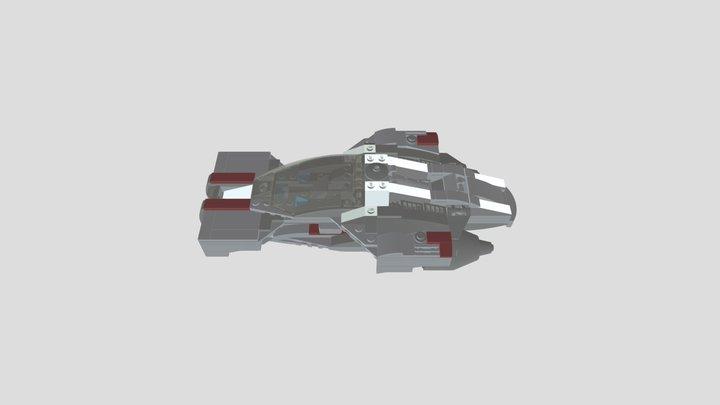 Futuristic Lego Supercar 3D Model