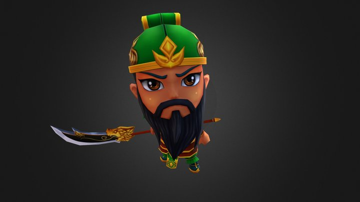 Quan Vu chibi Low poly 3D Model