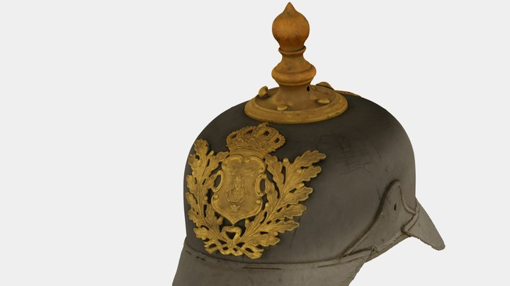 Poliskask / Swedish police helmet ca 1900 3D Model
