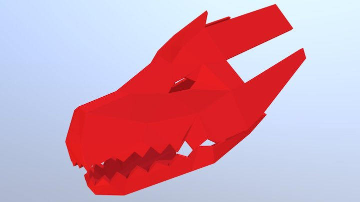 Dragon Mask 3D Model