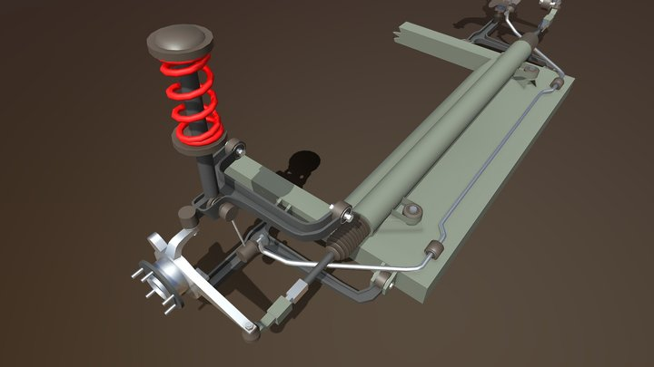 Two-lever independent suspension 3D Model