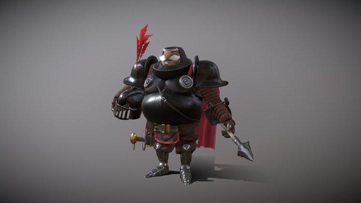 The Sleepy Knight [Animated] 3D Model