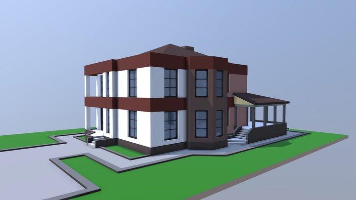 NE Oarch Cottage Modern 001 3D Model