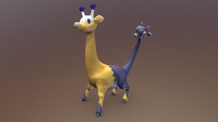 Reimagined Pokemon Girafarig (@pkmnreboot) 3D Model
