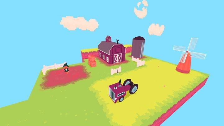 LowPoly Farm 3D Model