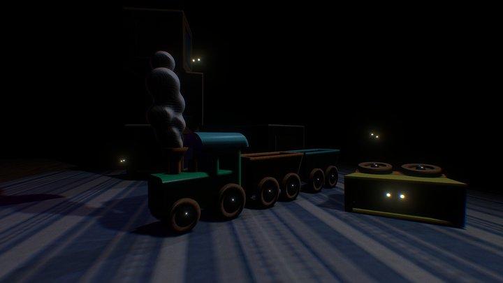 Toys at night 3D Model