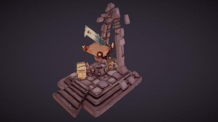 The Rocky Dooky Scene 3D Model