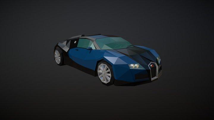 Low Poly Sports Car 03 3D Model