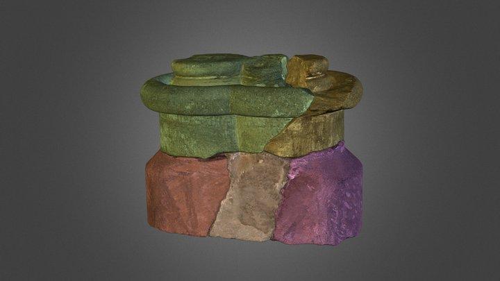 Nidaros Cathedral - Column Base Dataset  3D Model