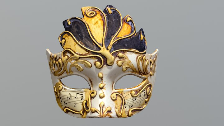 Venetian Mask 2 - colored 3D Model
