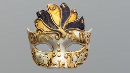 Venetian Mask 2 - colored 3D Model