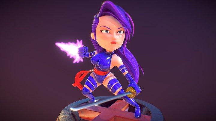 Mini Psylocke 3D Model
