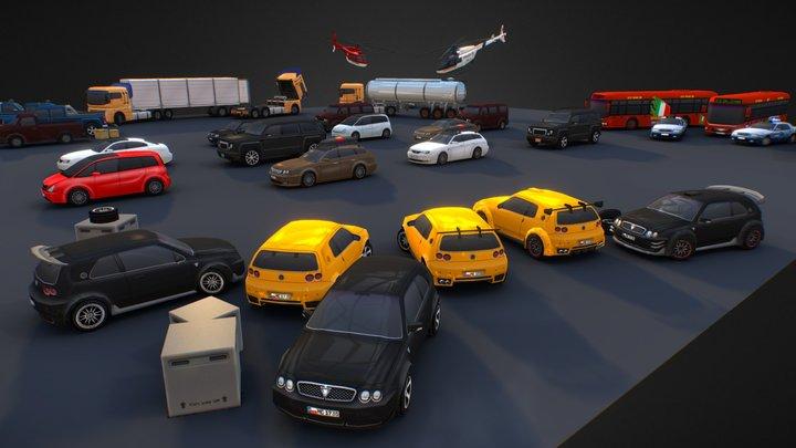 Complete Vehicle Pack V2 3D Model