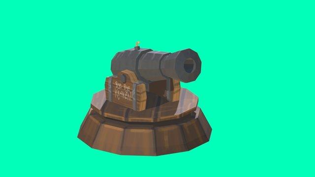 Blackbeard's Cannon - The Revenge 3D Model