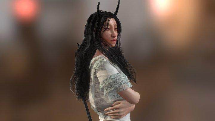 Crying Demon Girl 3D Model