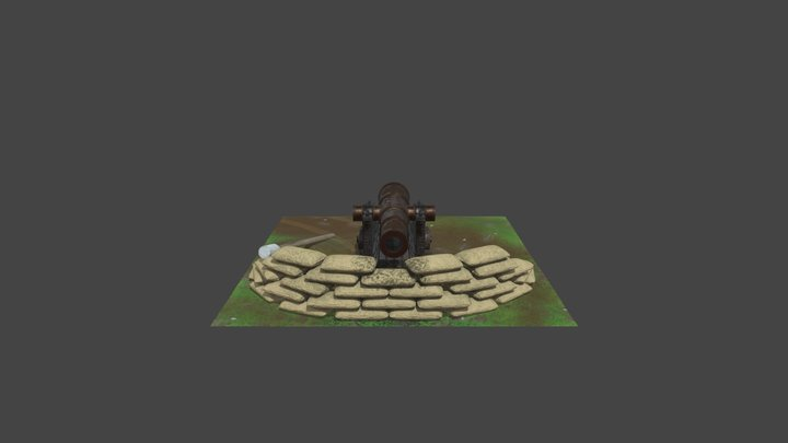Cannon Enviroment Textured 3D Model