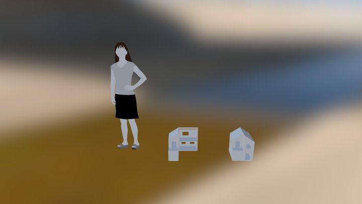 Maison Poupée 3D Model