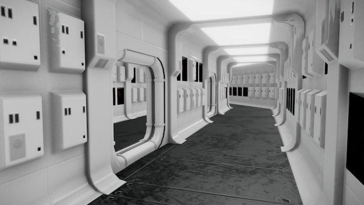 Tantive IV Corridor   Star Wars 3D Model