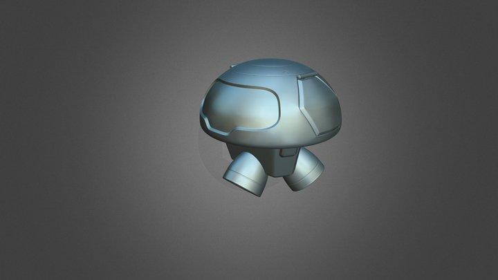 Dron freezer Mei Overwatch 3D Model
