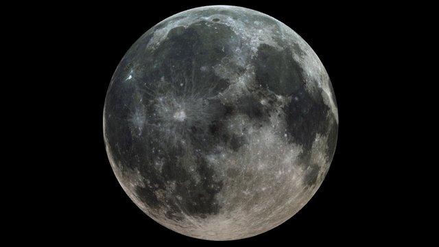 The Moon Sharp 3D Model