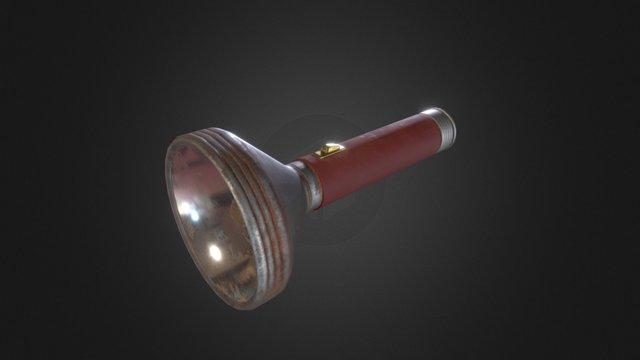 Retro Style Flashlight 3D Model