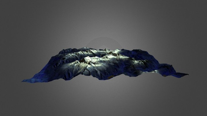 Glacial Topography in Huascaran National Park 3D Model