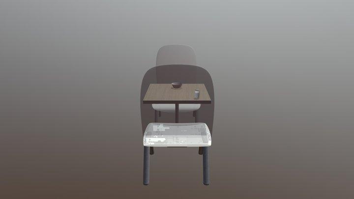 Meja Susu 3D Model