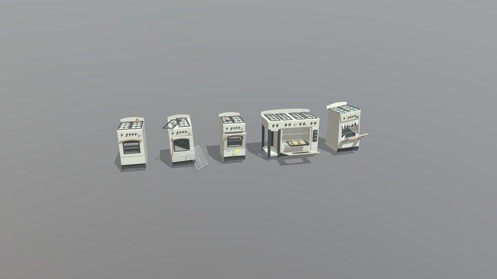5 item versions - XYZ homework 3D Model